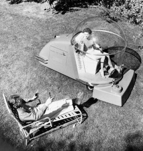 50's Futuristic Air Conditioned Lawn Mower