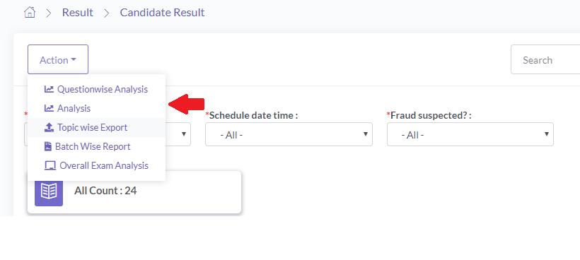 Export Online Exam Result