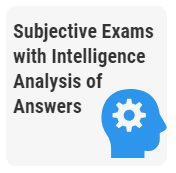 Subjective Online Exams with Intelligence Analysis of Answers