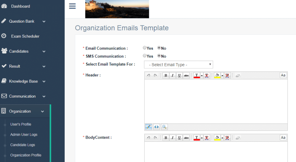 Custom Email config