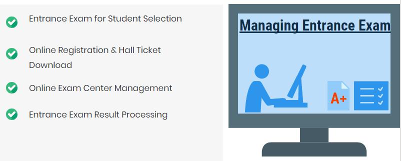 Managing Entrance Exam of Education Institute and universities