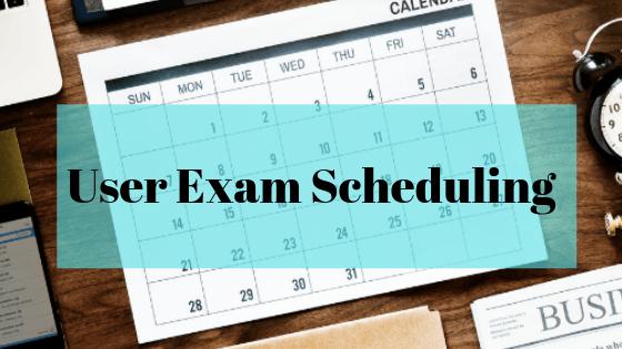 User Exam Scheduling