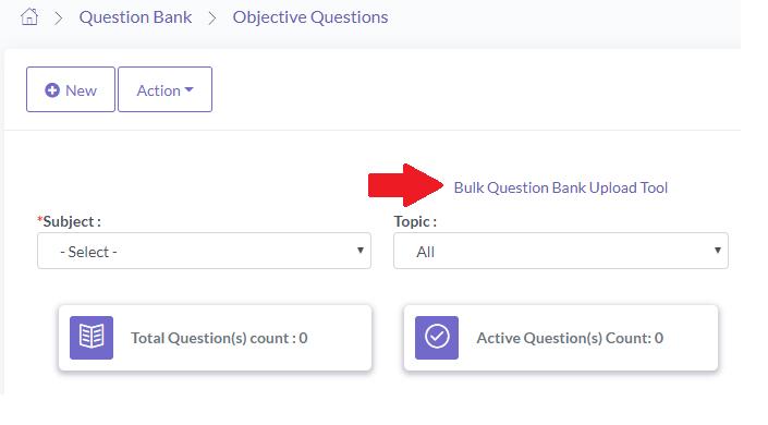 Bulk Questions upload for online exam
