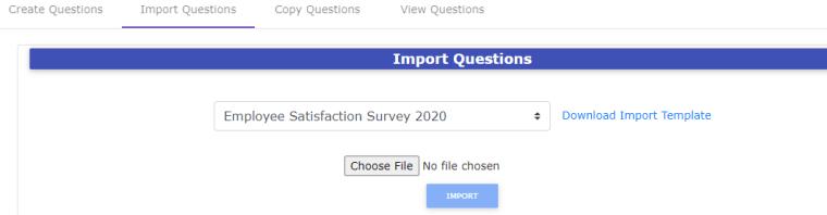 Import Survey Questions