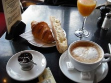 Breakfast at a Parisian cafe