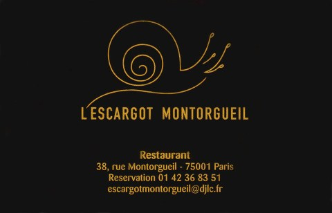 L'Escargot Montorgueil business card