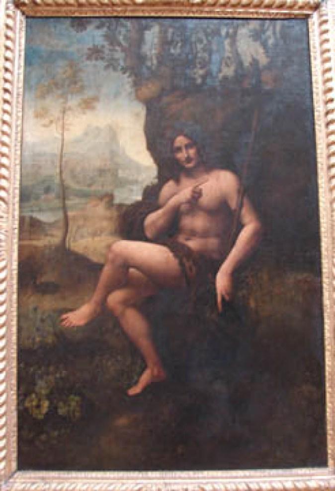 Saint Jean-Baptiste Bacchus, by a student of Leonardo daVinci