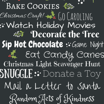 Free Holiday Printable: Holiday Bucket List