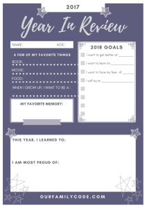 2017 Year in Review Free NYE Printable Purple