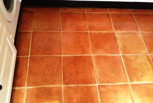 Patchy Terracotta Tiles After Cleaning and Resealing