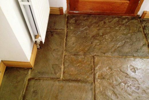 Banbury Slate Flagstone Tiles After Cleaning
