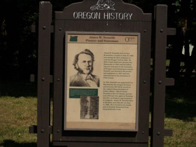 Oregon Historical Marker - James W. Nesmith
