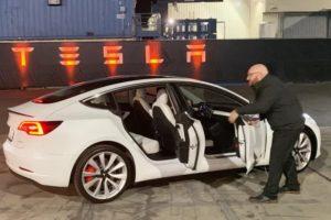 Tesla Model Y Doors Open