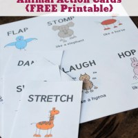 Get Active with your Kids with Animal Action Cards FREE Printable!