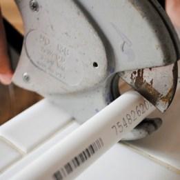 Step 2: Cut PVC pipe