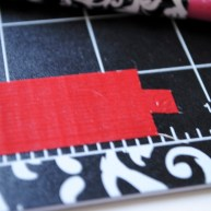 Step 13: Cut thin strip and then cut out two notches on the end