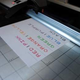 Step 1: Print and cut labels