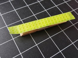 Step 1: Place Washi tape on clothes pin
