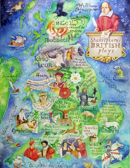 shakespeare's british plays poster
