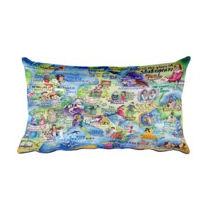 The Shakespeare Map Pillow