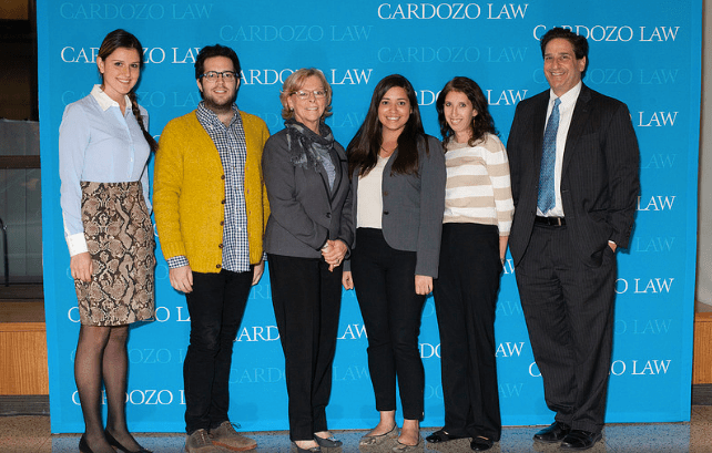Professor Marci A. Hamilton with some members of her Cardozo student research team