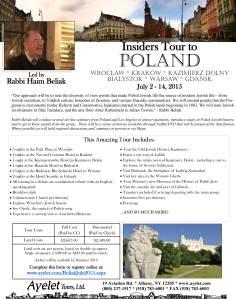 Rabbi Beliak's Poland Tour 2015