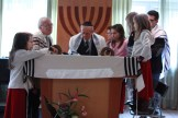 Henryk reading from the Torah