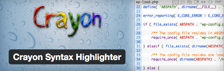 Crayon syntax highlighter wordpress plugin