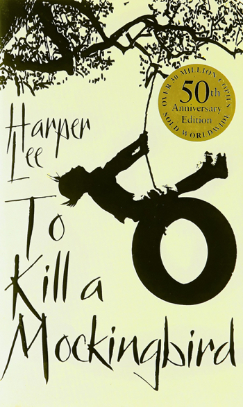 """To Kill A Mocking Bird"" book cover on the 50th anniversary of publishing it"