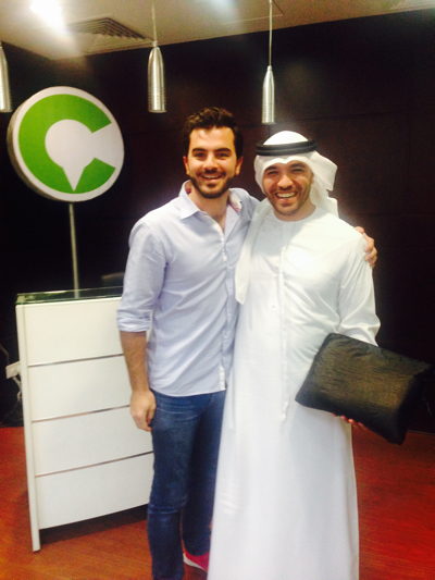 Khalid Al Ameri with Careem UAE's General Manager Christian Eid