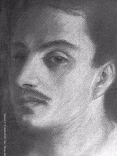 Gibran Khalil Gibrans's 'Self portrait' - Courtesy of the Gibran National Committee