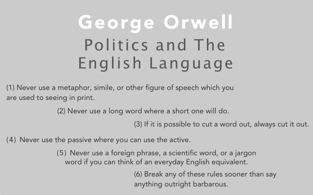 politics and the english language an essay by orwell sail magazine in pop culture george orwell is known for the creation of the concept of big brother which many people now relate to the reality tv show