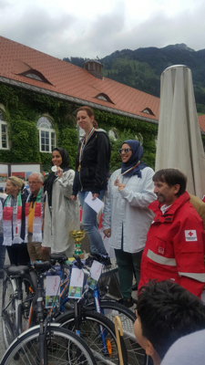 UAE Day in Austria - The bicycles marathon (picture provided by the author)