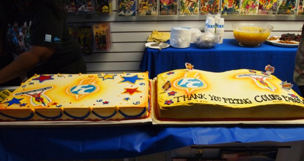 FCBD cakes at Flying Colors