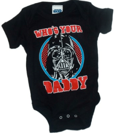 Who's Your Daddy Star Wars onesie from Amazon.com