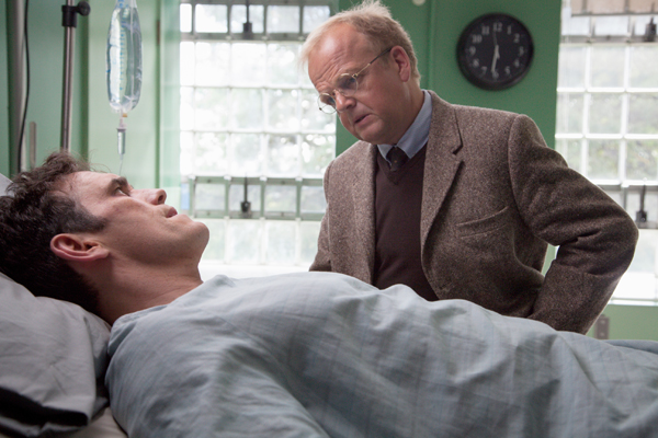"WAYWARD PINES:   Ethan (Matt Dillon, L) meets Dr. Jenkins (Toby Jones, R) in the ""Where Paradise is Home"" Event Series Premiere episode of WAYWARD PINES airing Thursday, May 14 (9:00-10:00 PM ET/PT) on FOX.  ©2015 Liane Hentscher/FOX"