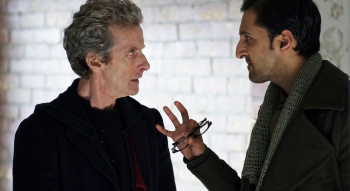 Peter Capaldi as the Doctor and Arsher Ali as Bennett
