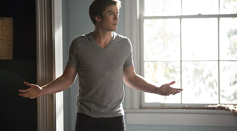 """The Vampire Diaries -- """"I Carry Your Heart With Me"""" -- Image Number: VD704b_0061.jpg -- Pictured: Ian Somerhalder as Damon -- Photo: Bob Mahoney/The CW -- © 2015 The CW Network, LLC. All rights reserved."""