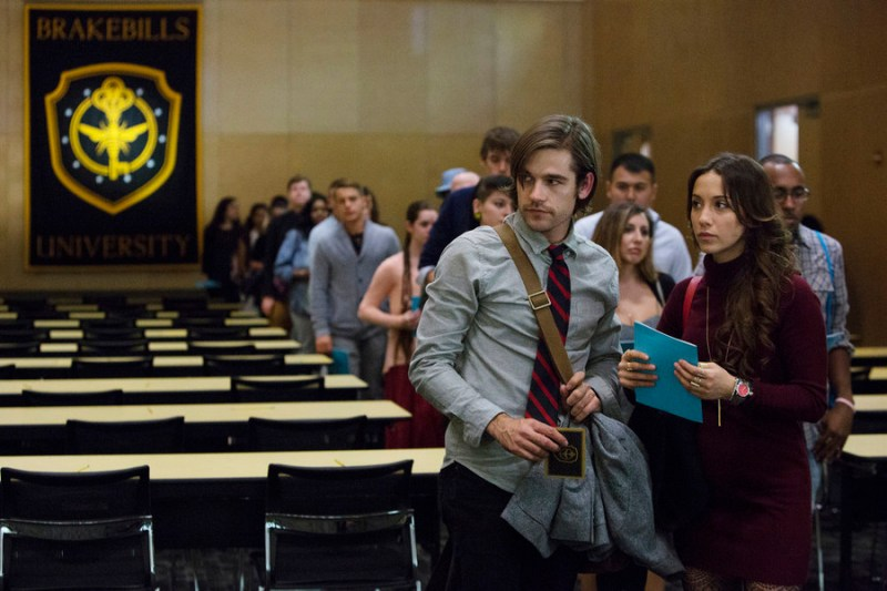 THE MAGICIANS -- Pictured: (l-r) Jason Ralph as Quentin, Stella Maeve as Julia -- (Photo by: Hilary Bronwyn Gayle/Syfy)