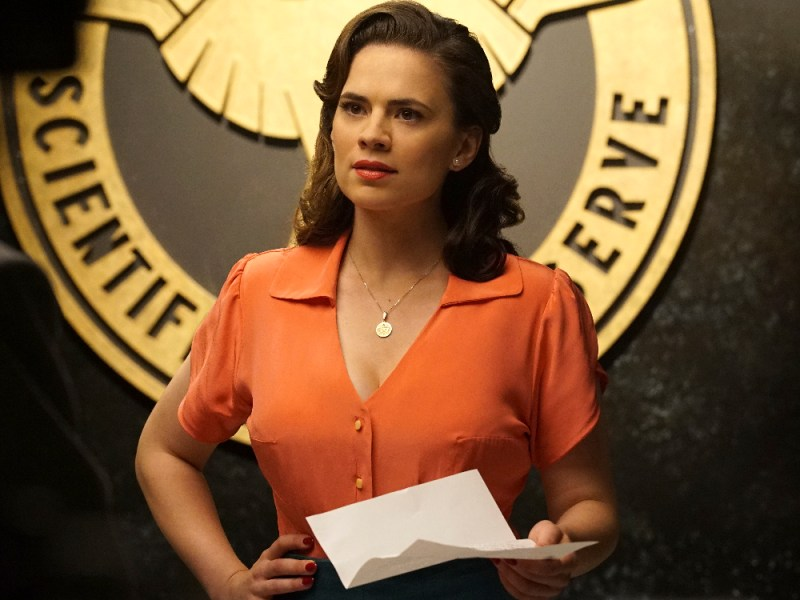 "MARVEL'S AGENT CARTER - ""Smoke and Mirrors"" - Agent Carter and the SSR learn there's more than just a pretty face behind Hollywood star Whitney Frost, Peggy's most dangerous foe yet, on ""Marvel's Agent Carter,"" TUESDAY, FEBRUARY 2 (9:00-10:00 p.m. EST) on the ABC Television Network. (ABC/Richard Cartwright) HAYLEY ATWELL"