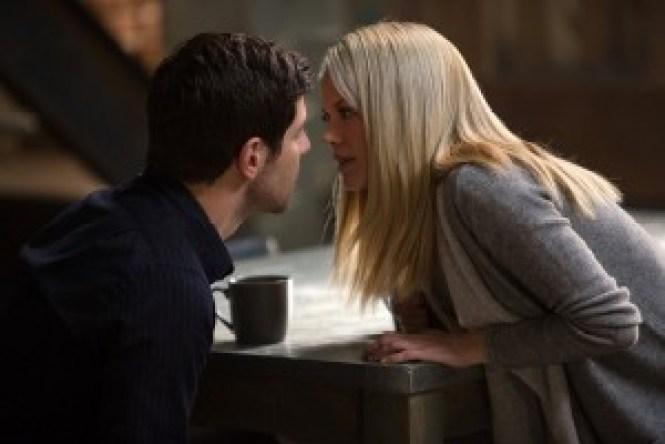 "GRIMM -- ""Eve of Destruction"" Episode 507 -- Pictured: (l-r) David Giuntoli as Nick Burkhardt, Claire Coffee as Adalind Schade -- (Photo by: Scott Green/NBC)"