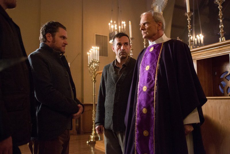 "GRIMM -- ""Key Move"" Episode 511 -- Pictured: Wolf Muser as Father Eickholt -- (Photo by: Scott Green/NBC)"