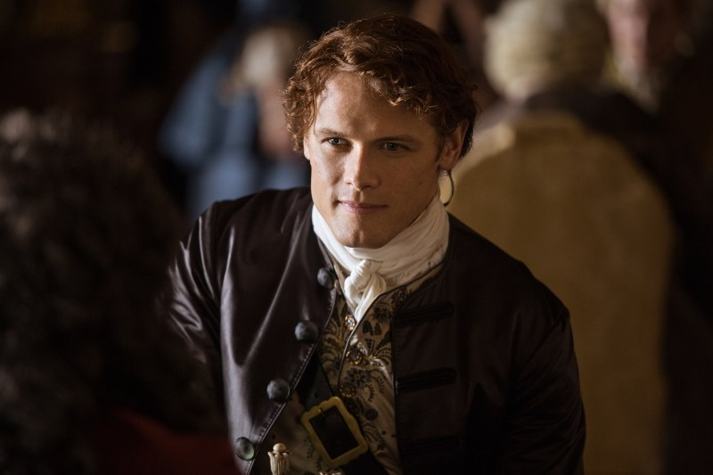 Jamie (Sam Heughan). Not pictured: the chessboard he is currently dominating the crap out of.