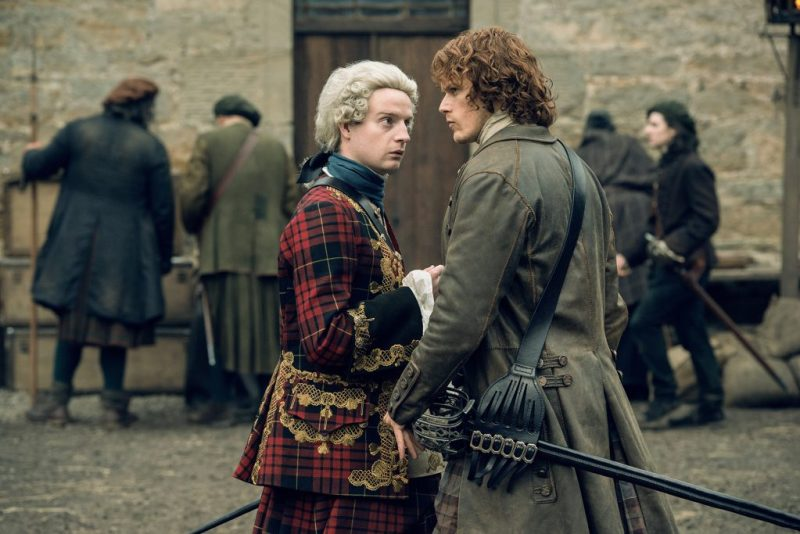 It's kind of a miracle Charles even survived to 1746 without Jamie. (Charles talking the Jamie.)