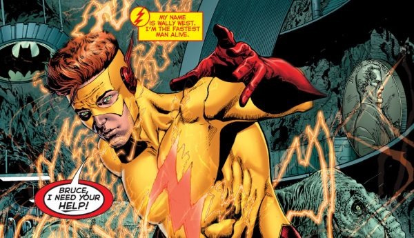 Wally West appears to Batman in DC Universe Rebirth #1
