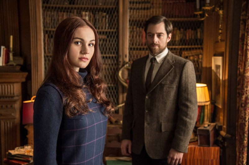 Randall and Wakefield, Private Eyes. (Brianna and roger stand in the Wakefield library.)