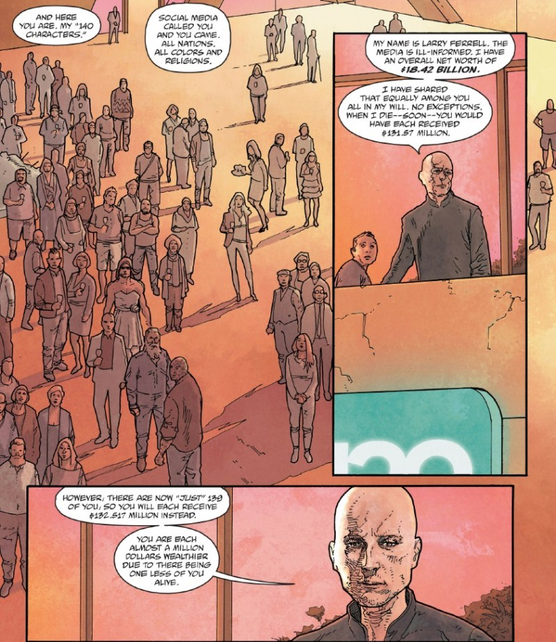 Unfollow #3 art by Mike Dowling and Quinton Winter