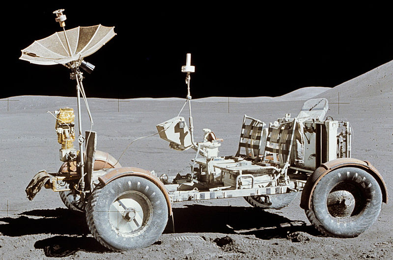 We've come a long way from this moon buggy, used for Apollo 15. [Photo courtesy NASA/Wikimedia Commons]