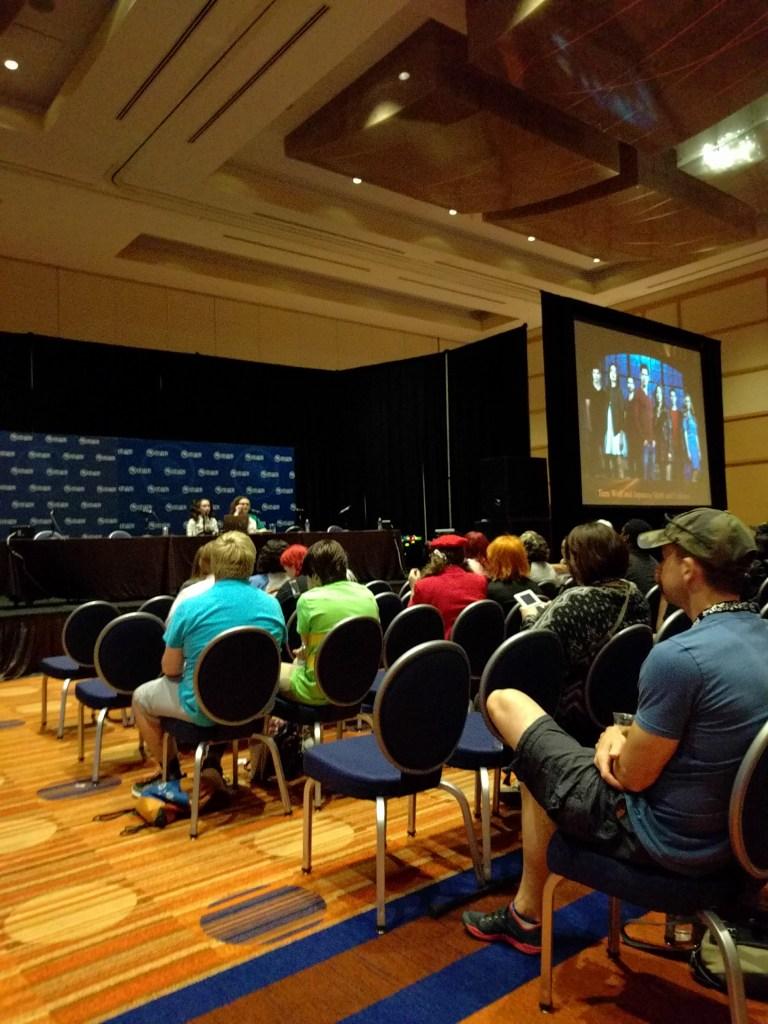 Sachan's Teen Wolf panel getting underway.