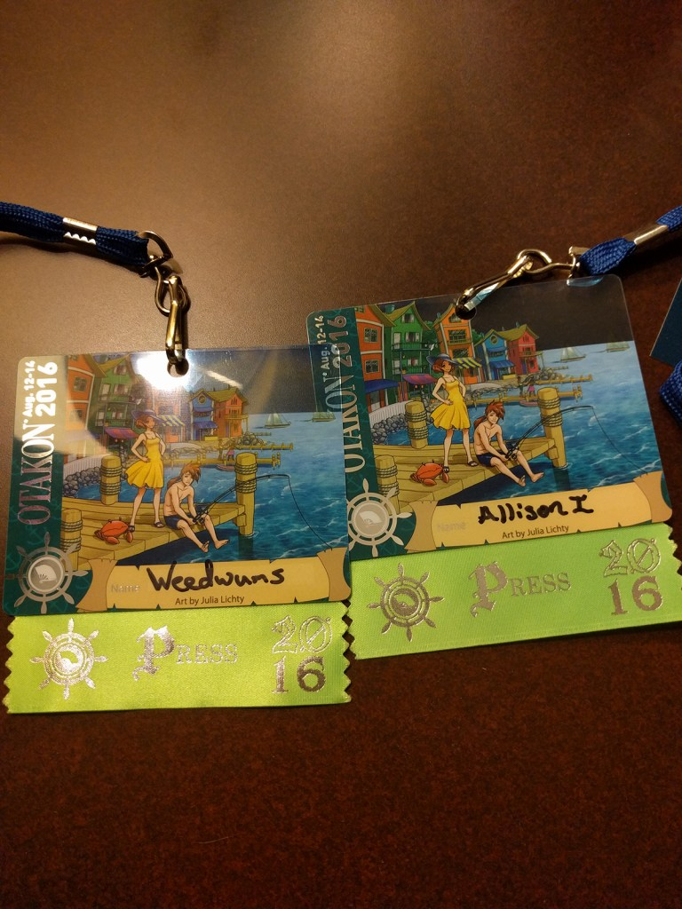 Press badges for your intrepid reporter and her Cameraman of the Silly Name.
